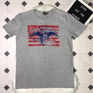 NWT Anvil AMERICA short sleeve tee size Large